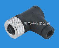 M12连接器/倾角传感器连接器-孔式弯头