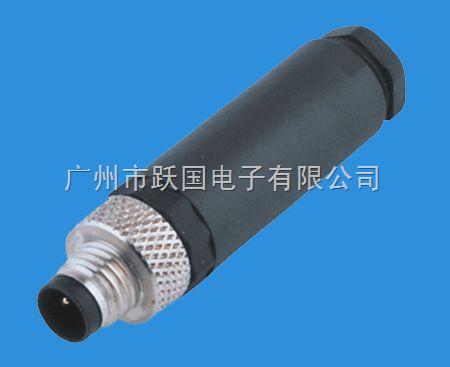 YG-08-I-3A-04-M8連接器/M8接插頭-針式直頭