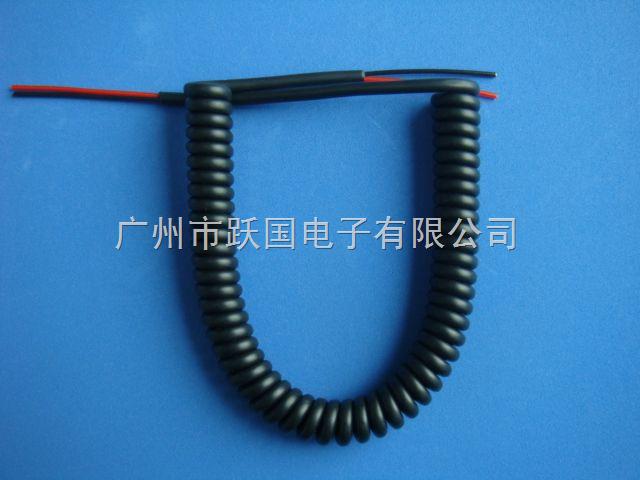 2芯PU黑色弹弓线 2*0.3mm2
