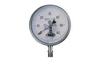 YEX-150B系列不銹鋼膜盒電接點壓力表
