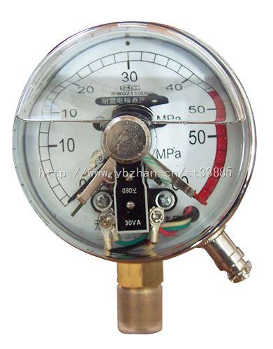 带边耐震电接点压力表